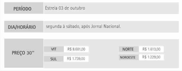 preço a lei do amor (Foto: Marketing TV Gazeta)