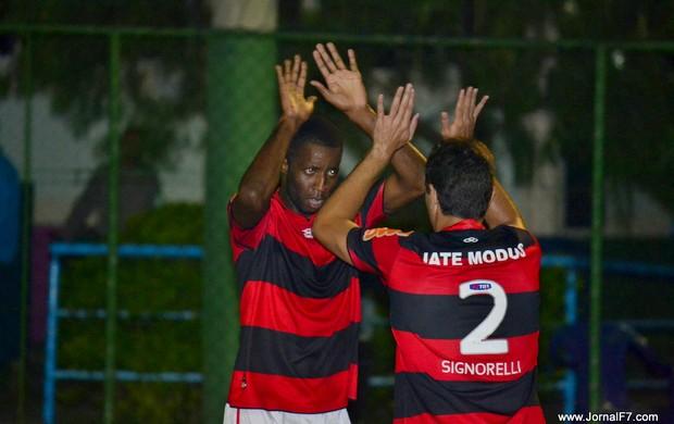 Mikimba comemora gol, Flamengo - Futebol de 7 (Foto: Joaquim Azevedo/JornalF7)