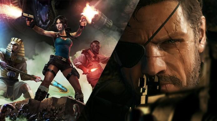Com Lara Croft and the Temple of Osiris (PS4) e Metal Gear Solid: Ground Zeroes (XOne), agosto foi um mês bem parado (Foto: Reprodução/Lazy Gamer e Videogamer)
