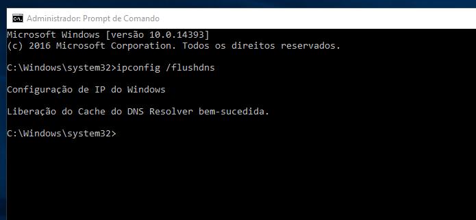 Limpando o cache DNS no Windows (Foto: Reprodução/Edivaldo Brito)