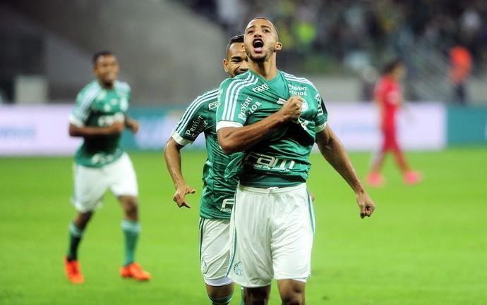 Palmeiras, gol, Vitor Hugo, Copa do Brasil (Foto: Marcos Ribolli)