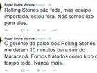 Roger, do Ultraje, critica gerente de palco dos Rolling Stones após show