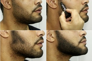 Produto para cobrir falhas e fios brancos na barba (Foto: Celso Tavares/EGO)