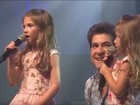 Filhas do cantor Daniel roubam a cena em show com participação fofíssima