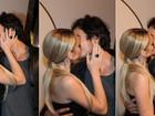 Isabelle Drummond se empolga e beija namorado 18 vezes em festa