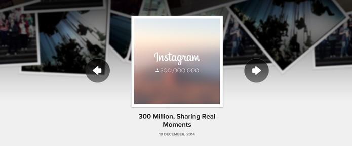 Instagram possui 300 milhões de usuários ativos (Foto: Reprodução/Instagram)