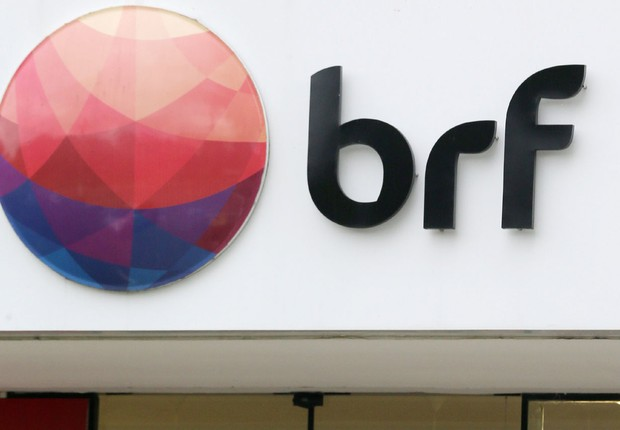 Logo da BRF, em São Paulo (Foto: Paulo Whitaker/Reuters)