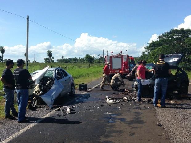 Sete mortos em acidente em distrito de Jardim, MS (Foto: Divulgação/Polícia Civil)