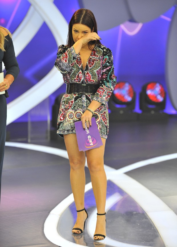 Fernanda Souza emocionada (Foto: Samuel Chaves/Brazil News)