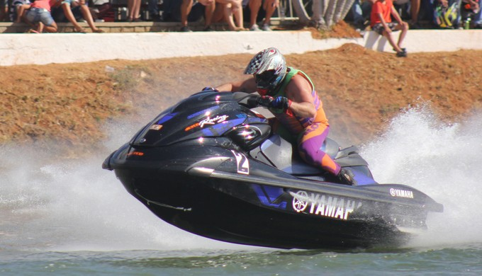 Valdir Brito Júnior foi o grande vencedor da 1ª etapa do 28º Campeonato Brasileiro de Moto Aquática (Foto: Divulgação)