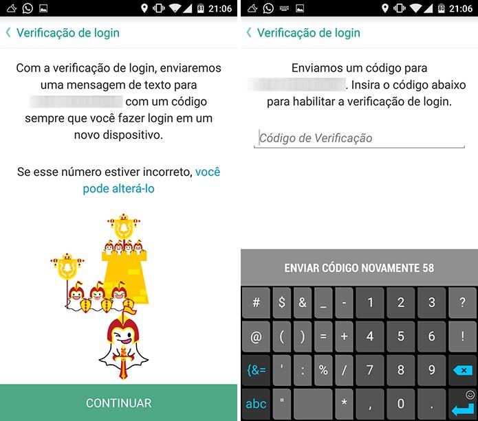 Snapchat possui verificação em duas etapas para proteger usuário (Foto: Reprodução/Elson de Souza)
