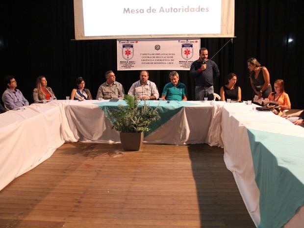 Encontro teve participação do secretário adjunto de saúde em Rondônia (Foto: Rogério Aderbal/ G1)