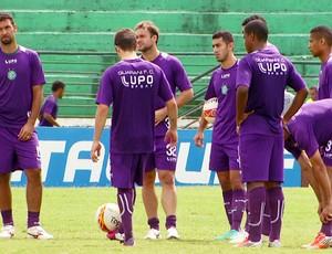 Paulo Pereira treino Guarani time titular (Foto: Carlos Velardi / EPTV)