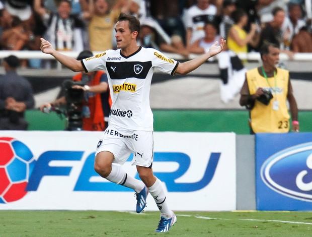 Lucas comemora gol do Botafogo sobre o Vasco (Foto: Ide Gomes/Agência Estado)
