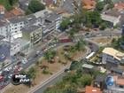 Após acidente entre carro e ônibus, trânsito fica lento na região da Lucaia