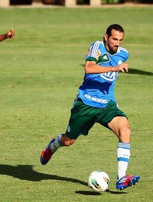 Hernan Barcos Palmeiras treino (Foto: Marcos Ribolli / Globoesporte.com)