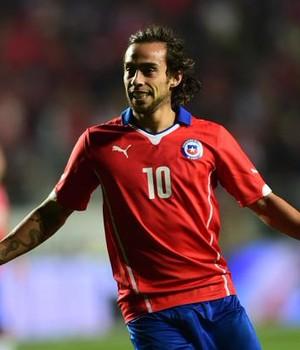 Valdivia, gol Chile x El Salvador (Foto: Reprodução / Twitter)