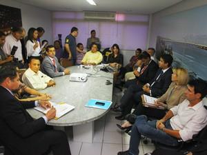 Reunião foi realizada na tarde desta terça-feira (27), em São Luís (Foto: Biné Morais/O Estado)