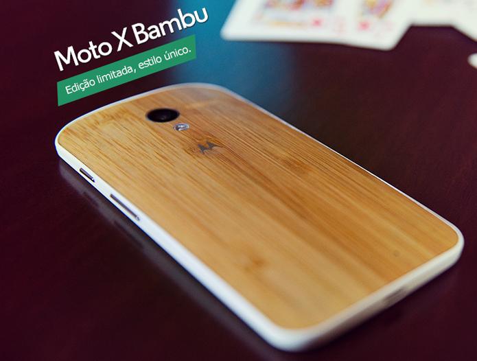 Moto X Bambu é a nova opção de cor do top de linha da Motorola no Brasil (Foto: Divulgação/Morotola)