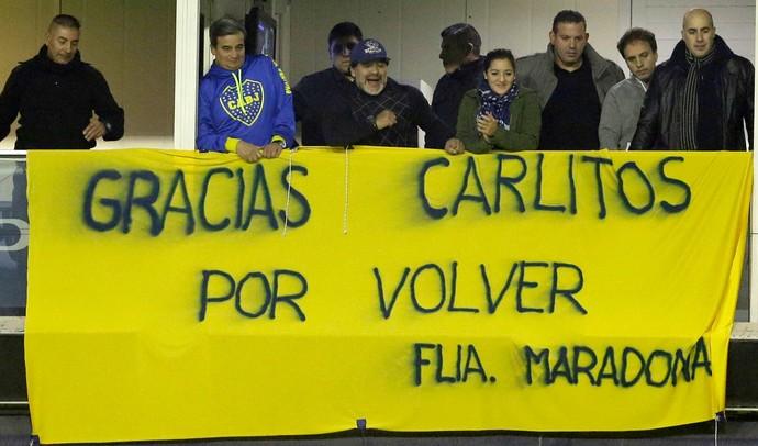 Diego Maradona Carlos Tevez Boca Juniors (Foto: AP)