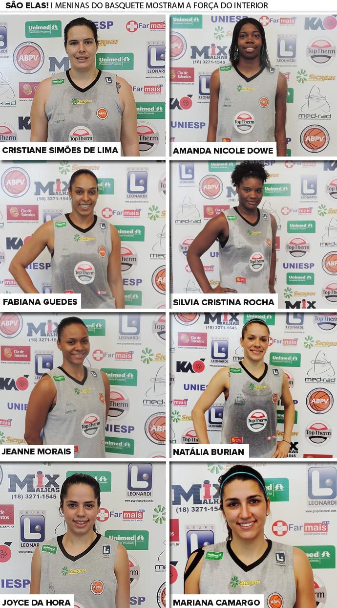 mosaico basquete feminino interior (Foto: Editoria de Arte)
