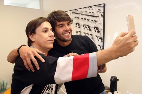 Kaká e Tom Cavalcante (Foto: Edu Viana/Multishow)