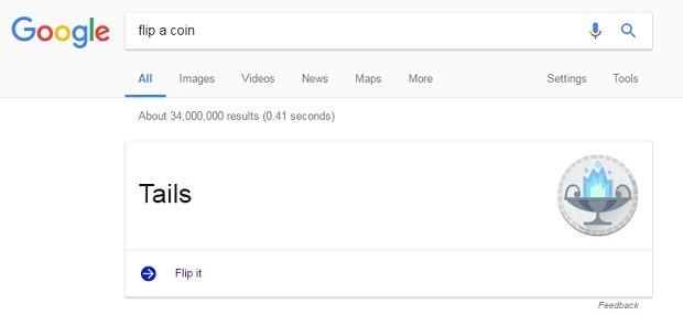 google flip a coin coroa (Foto: Reprodução)
