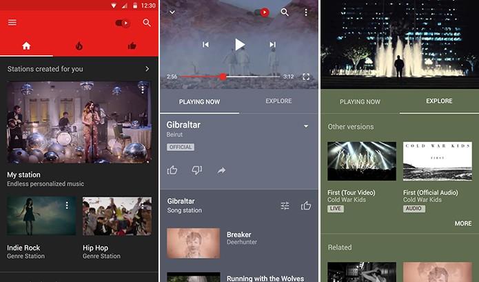 YouTube Music foca apenas no conteúdo musical do site de vídeos (Foto: Reprodução/Elson de Souza)