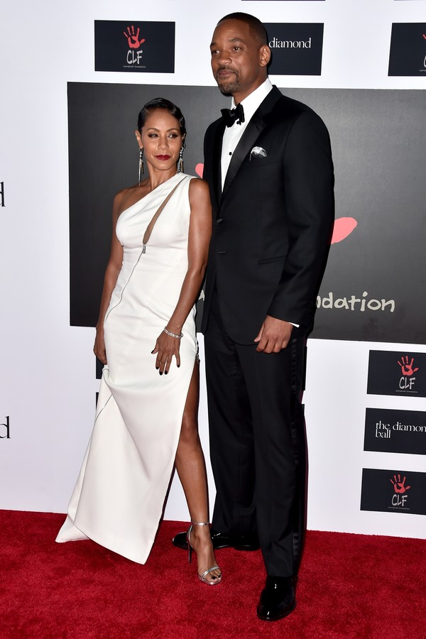 A atriz Jada Pinkett-Smith e seu marido, Will Smith (Foto: Getty Images)