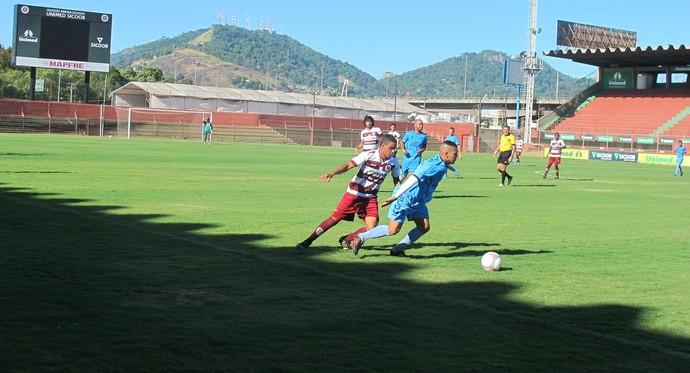 Desportiva e São Mateus empataram por 3 a 3, em amistoso realizado no Engenheiro Araripe, neste domingo (Foto: Bárbara Oliveira/A Gazeta)