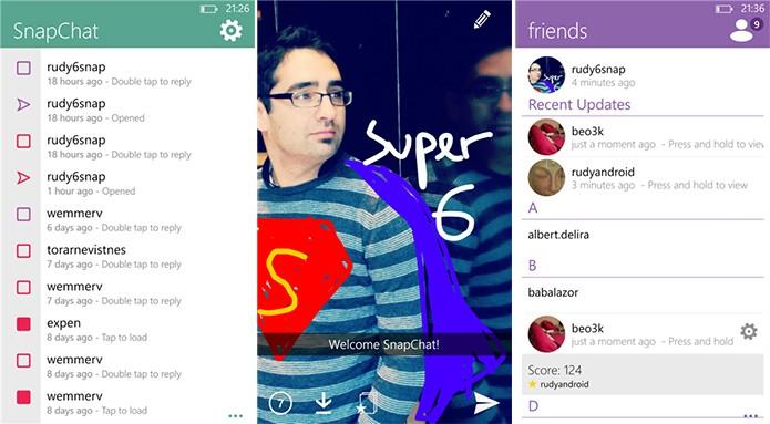 6snap é um cliente do Snapchat para Windows Phone com suporte a conversas por textos, fotos e vídeos (Foto: Divulgação/Windows Phone Store)