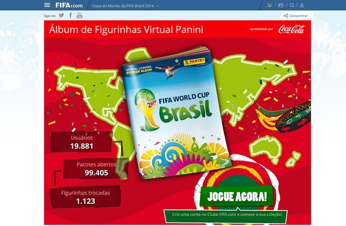 site álbum de figurinhas virtual da Copa do Mundo 2014 (Foto  Reprodução    Fifa 4b5537806fc