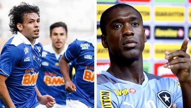 Estado do Paraná acompanha Cruzeiro e Botafogo na RPC TV (Foto: Washington Alves/Vipcomm e Alexandre Cassiano/Ag. O Globo)
