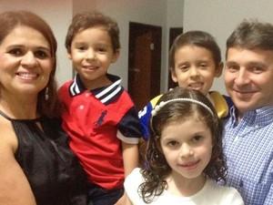 Aniuska vai para Pipa com a família para comemorar o Dia das Crianças (Foto: Aniuksa Almeida/Arquivo Pessoal)