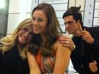 Susana Vieira, Paolla e Mateus Solano se divertem em bastidores de novela