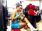 Juju Salimeni mostra as pernas torneadas após treino de musculação