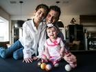 Henri Castelli posa com os filhos: 'Sempre quis ter uma família'