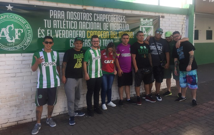 torcedores do nacional em chapecó (Foto: Janir Jr)