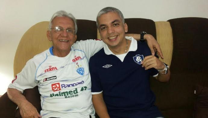 Abílio (e) e Maurício lembram dos bons tempos em que clubes do Pará disputavam a elite do futebol nacional (Foto: Arquivo Pessoal)
