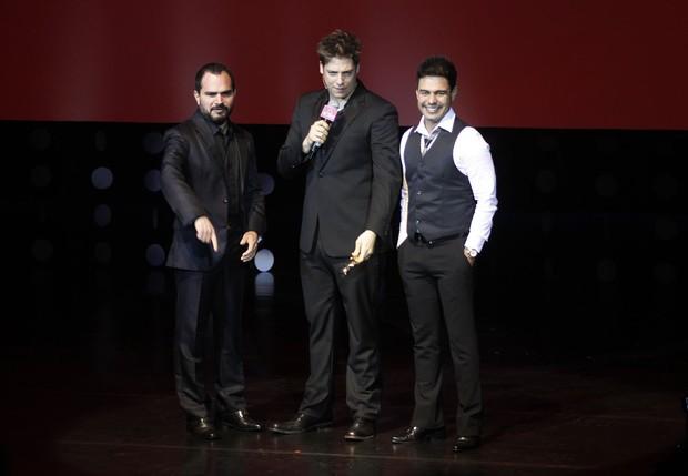 Zezé Di Camargo, Luciano e Fábio Porchat (Foto: Celso Tavares/EGO)