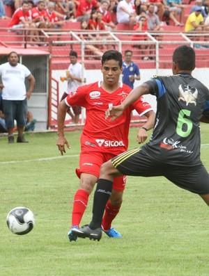 Wendell Lira - jogo-treino contra o Vilaboense (Foto: Sebastião Nogueira / O Popular)