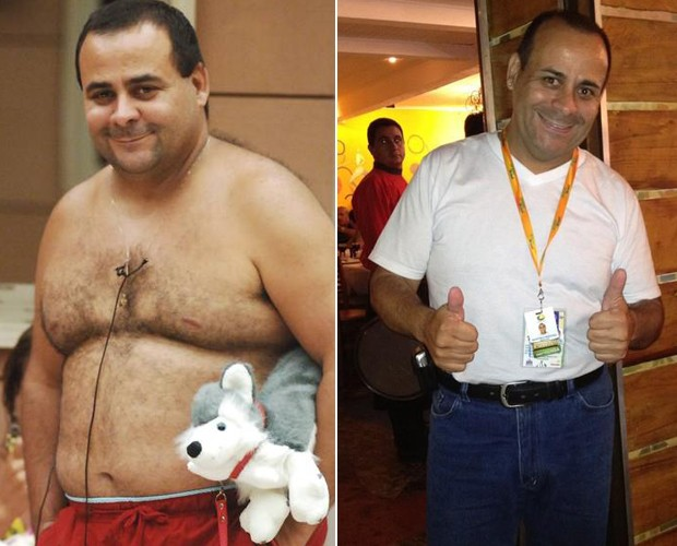 Agostinho bbb antes e depois 2 (Foto: BBB/TvGlobo)