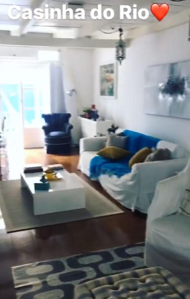 Ticiane Pinheiro mostra casa no Rio (Foto: Reprodução)