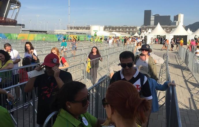 Acesso ao Parque Olímpico é tranquilo na manhã deste domingo (Foto: Felippe Costa)