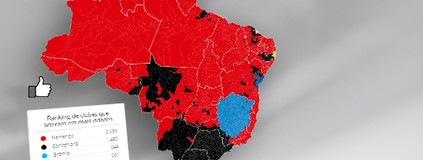Confira o mapa das curtidas dos  times catarinenses no Facebook (infoesporte)