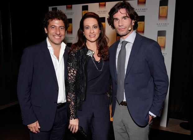Pedro Escudero, Simone Duailibi e Maximiliano Vaccaro (Foto: Marcos Rosa/Ed.Globo)