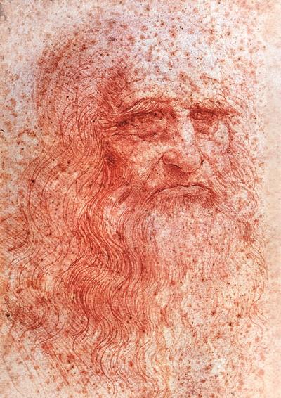 AUTORRETRATO Leonardo por ele mesmo. Desenho sobre papel feito por volta de 1515 (Foto: The Art Archive/Private Collection Italy/Gianni Dagli Orti)
