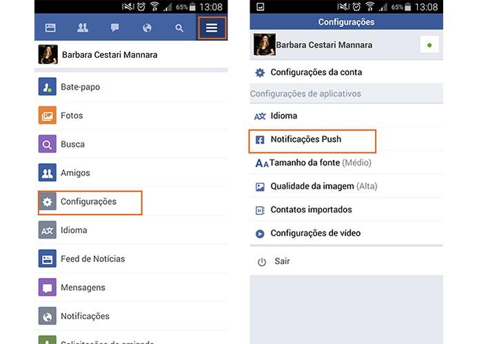 Acesse as notificações do Facebook Lite e acesse o item de notificações (Foto: Reprodução/Barbara Mannara)