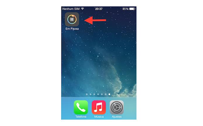 Pausando um download de aplicativo no iOS (Foto: Reprodução/Marvin Costa)