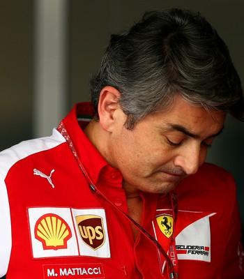 Marco Mattiacci no GP de Abu Dhabi, último à frente da Ferrari (Foto: Getty Images)